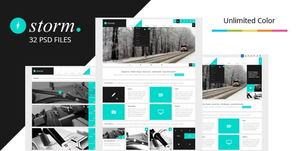 Storm 1.3 - Multipurpose PSD Theme - Business Corporate