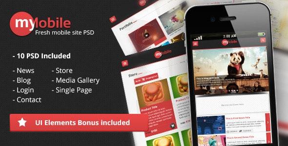 MyMobile Interface PSD - Creative Photoshop