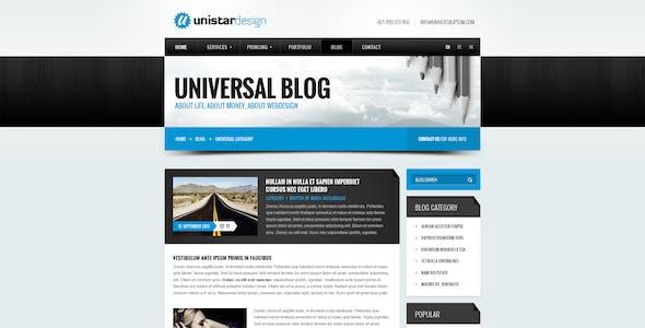 Unistar Design - PSD Template