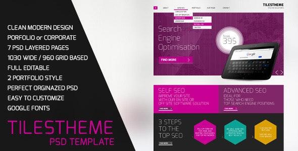 TilesTheme PSD Template - Marketing Corporate
