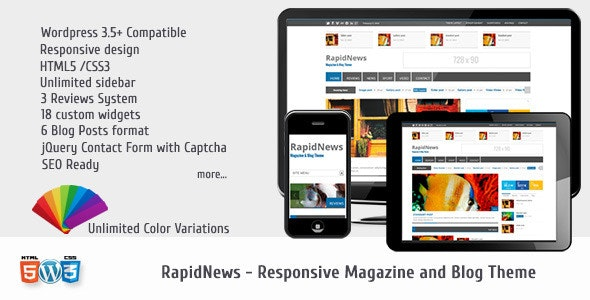 RapidNews - Responsive Magazine Theme - Blog / Magazine WordPress
