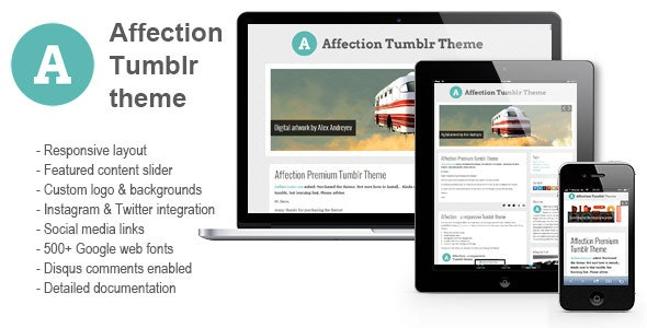 Affection - a responsive Tumblr theme - Blog Tumblr