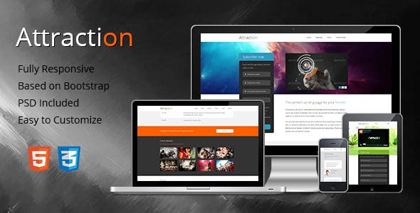 Attraction - Responsive Landing Page