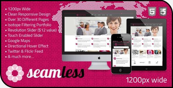 Seamless - Responsive HTML5 1200px Template - Portfolio Creative