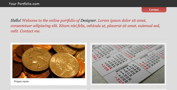 Simple modern portfolio theme - Portfolio Creative