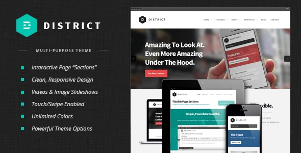 District: Responsive Multi-Purpose Theme - Corporate WordPress