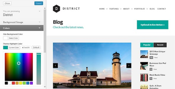 District: Responsive Multi-Purpose Theme