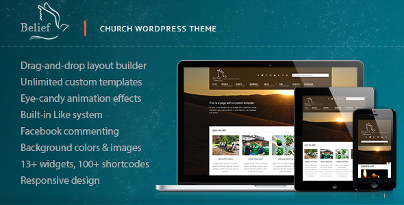 Belief - Church WordPress Theme - Churches Nonprofit