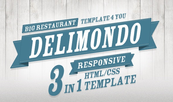 Delimondo Fully Responsive HTML | 3 Styles - Restaurants & Cafes Entertainment