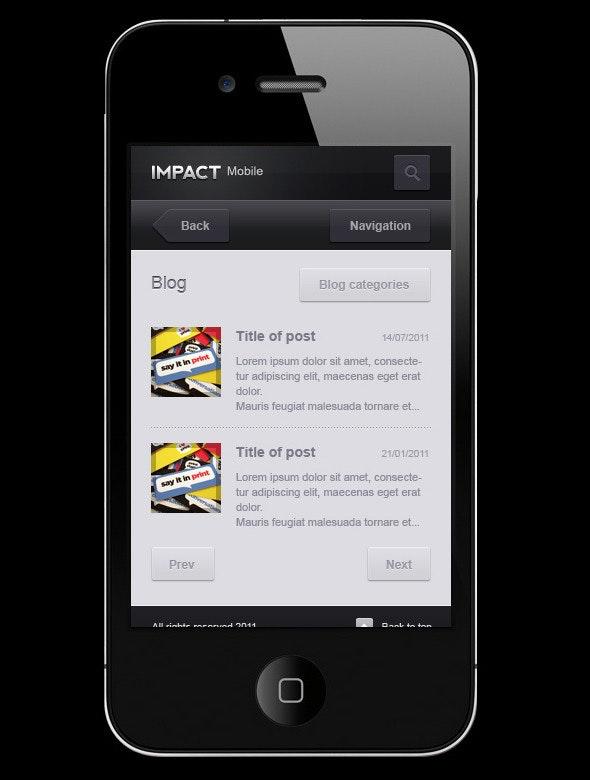 Impact Mobile - Creative Photoshop