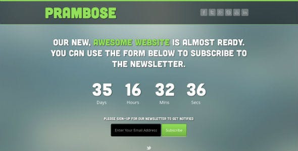 Prambose - Under Construction HTML Template