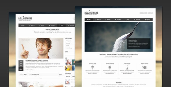 Rolling - Clean Business WordPress Theme - Business Corporate