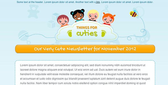 Things for Cuties - Baby Kids Newsletter Template