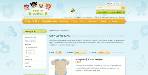 Kids' PSD Templates from ThemeForest
