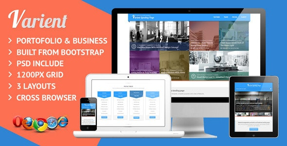 Varient Responsive Multi Purpose Landing Page - Corporate Landing Pages