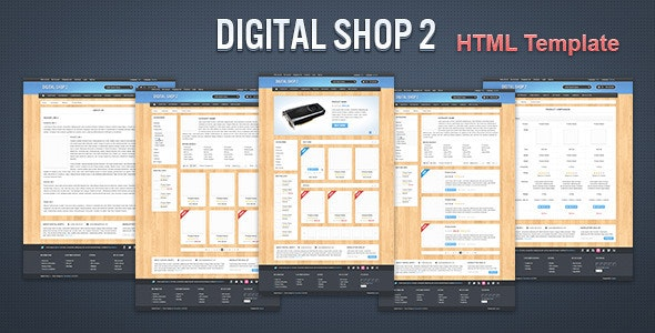 Digital Shop 2 - HTML Template - Retail Site Templates