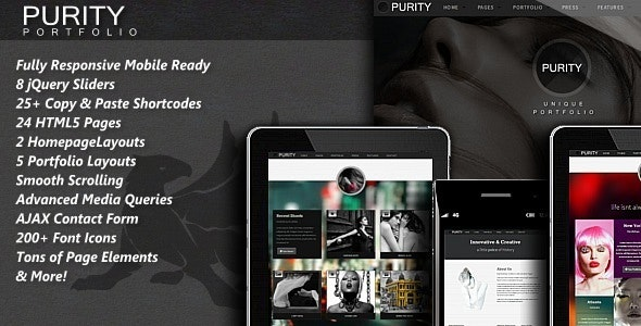 Purity - Responsive HTML5 Template - Photography Creative