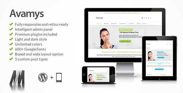 Avamys - Retina Ready Business Wordpress Theme - Business Corporate