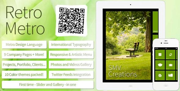 Retro Metro | SMV Creations - Mobile Site Templates