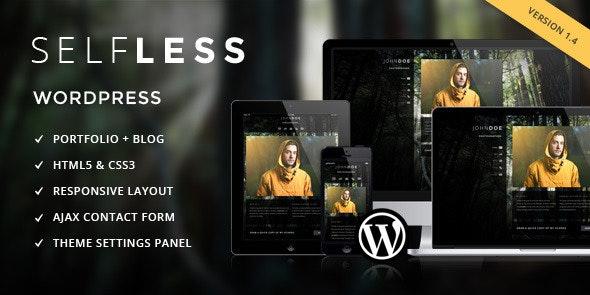 Selfless - A One Page WordPress VCard Theme - Portfolio Creative