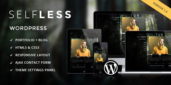 Selfless - A One Page WordPress VCard Theme - Portfolio Creative