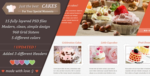 Just Cakes / PSD Theme - Retail Photoshop