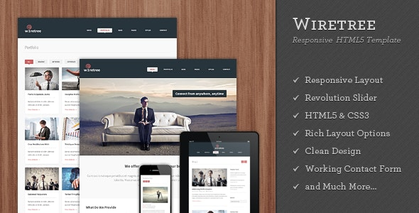 Wiretree - Responsive HTML5 Template - Corporate Site Templates