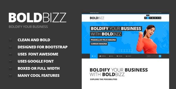BOLDBIZZ - Multi Purpose PSD Template - Corporate Photoshop