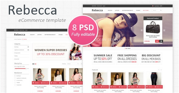 Rebecca - Modern eCommerce PSD Template - Shopping Retail
