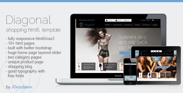 Diagonal - HTML5 Responsive Store Template - Retail Site Templates