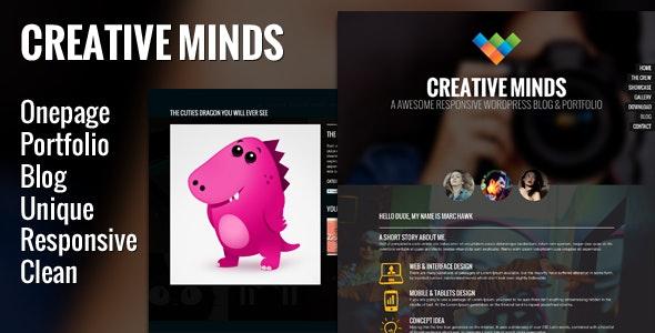 Creative Minds - One Page Portfolio Template - Creative Photoshop