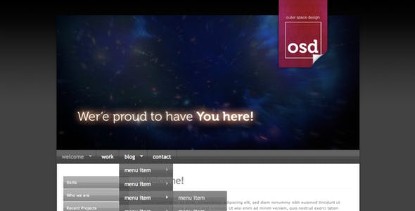Outer Space Design - Professional Template v1