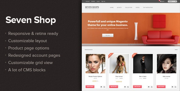 Seven shop - Responsive&Retina ready Magento theme - Magento eCommerce