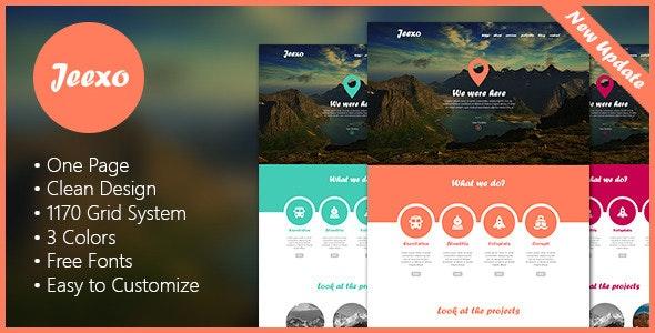 Jeexo - Single Page PSD Template - Portfolio Creative