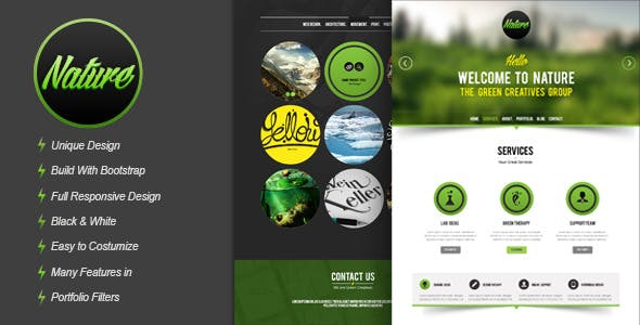 Nature - Responsive HTML5 Onepage Template