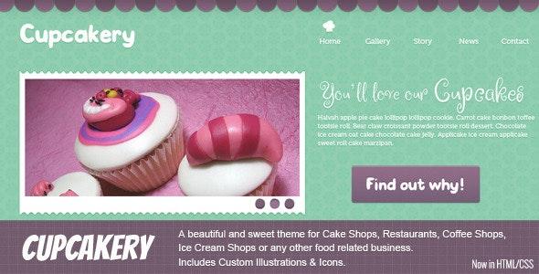 Cupcakery HTML - Food Retail