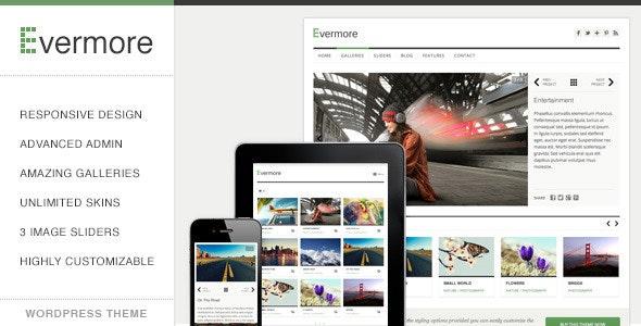 Evermore - Premium Responsive WordPress Theme - Portfolio Creative