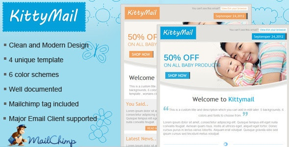 Kittymail Newsletter Template - Email Templates Marketing