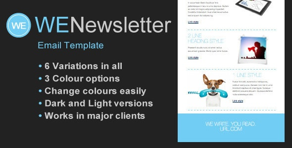 WE Email Newsletter Template - Newsletters Email Templates