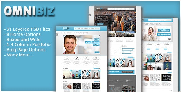 Omnibiz PSD Template for Business Site - Corporate PSD Templates