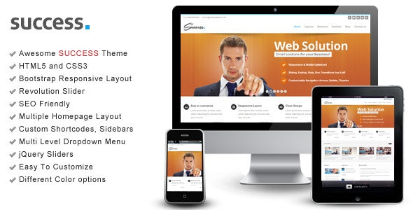 Success – Bootstrap Responsive HTML Template - Creative Site Templates