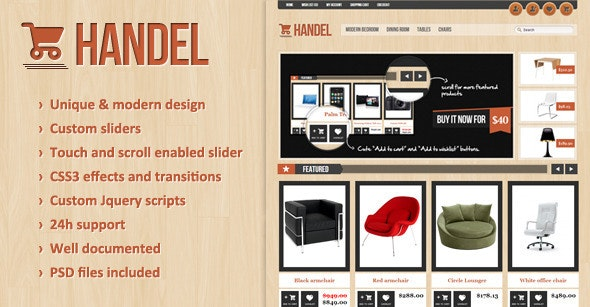 Handel - Unique & Modern OpenCart Template - Shopping OpenCart
