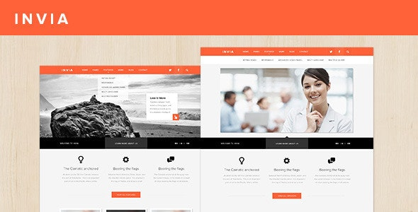 INVIA Corporate Site Template - Business Corporate