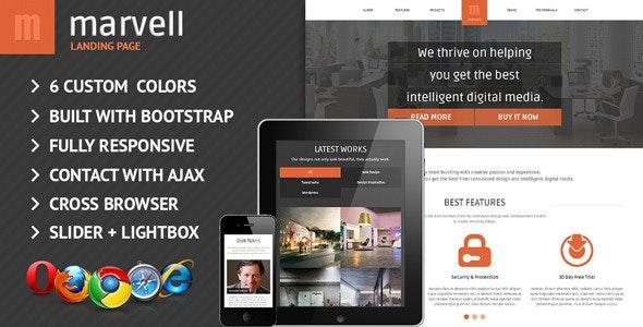 Marvell Responsive Landing Page - Portfolio Creative