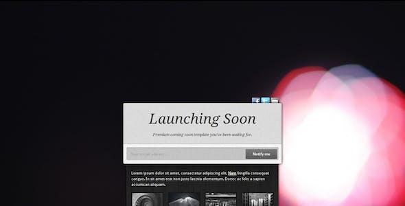 Launching Soon - Premium Coming Soon Template