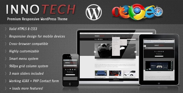 InnoTech - Premium Responsive WordPress Theme - Corporate WordPress