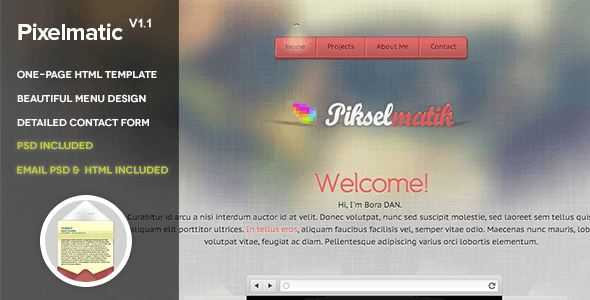 Pixelmatic - Virtual Business Card Personal