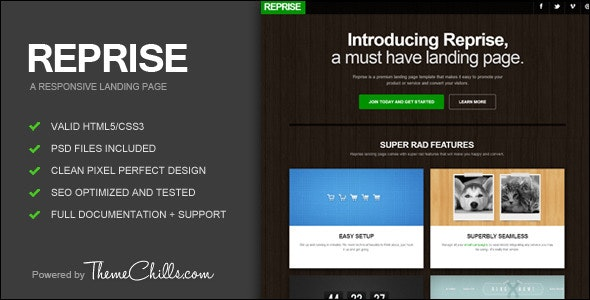 Reprise Responsive Landing Page - Creative Landing Pages