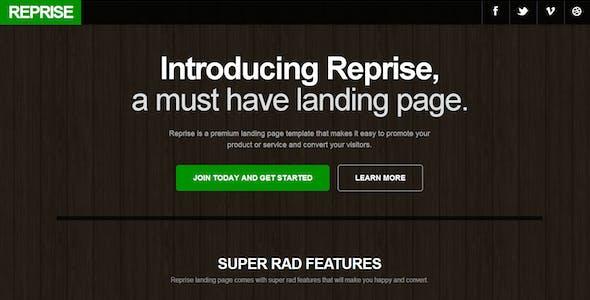 Reprise Responsive Landing Page