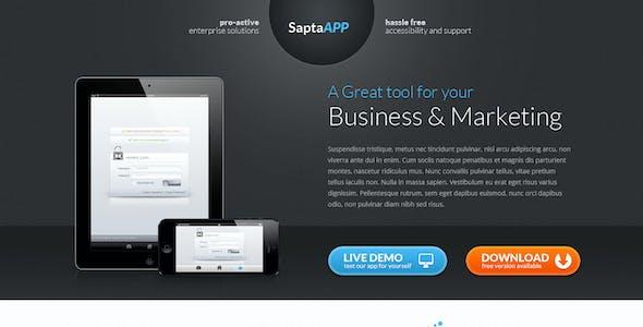 SaptaApp Landing Page Template